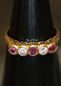 Pfandhaus von Engeln, Shop, Ring, Diamant, Rubin
