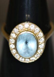 Damen Weißgold , 585-, mit Edelsteinen